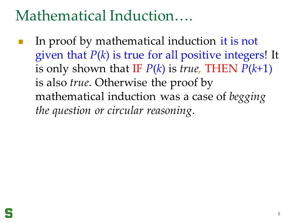 Mathematical Induction….