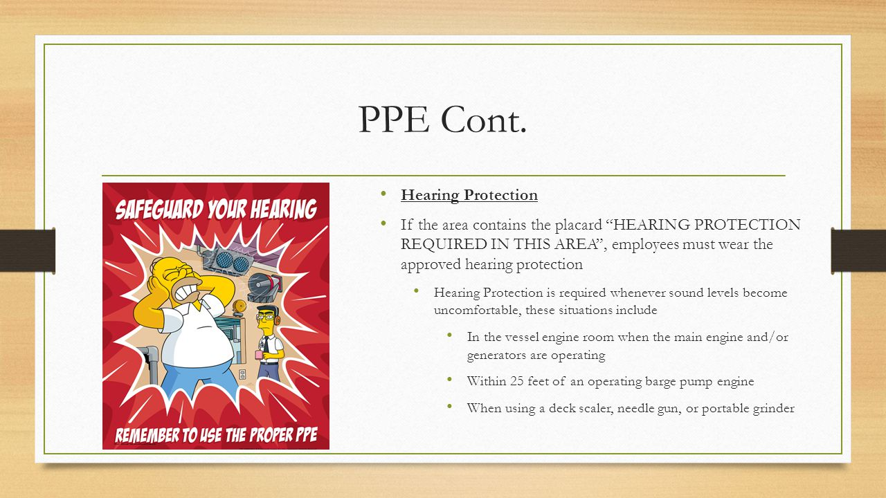 PPE Cont. Hearing Protection
