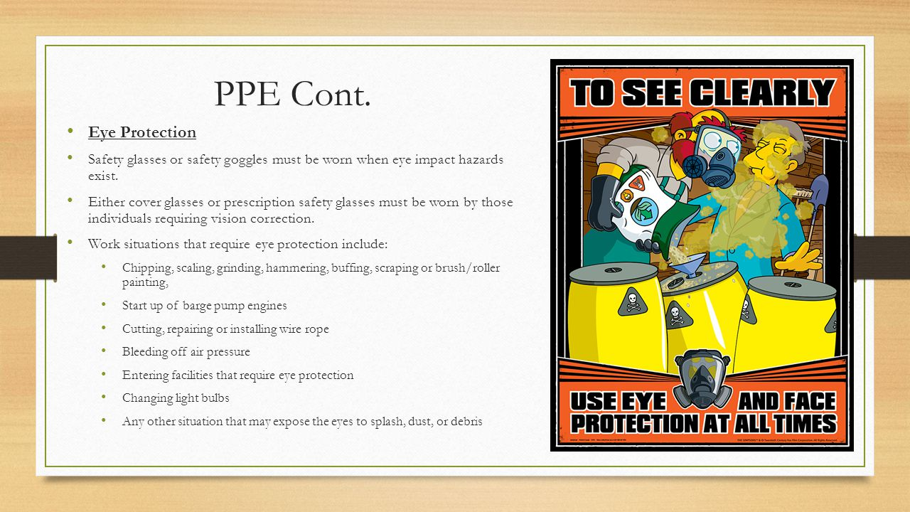 PPE Cont. Eye Protection