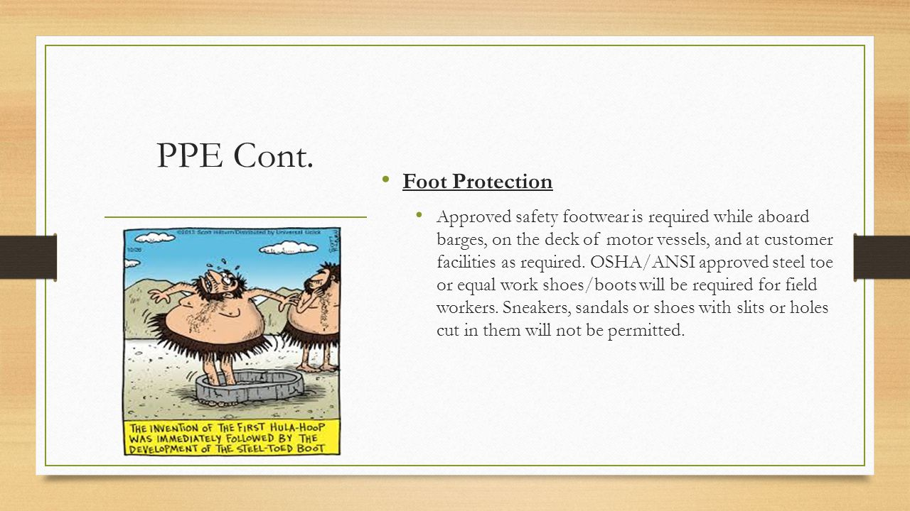 PPE Cont. Foot Protection