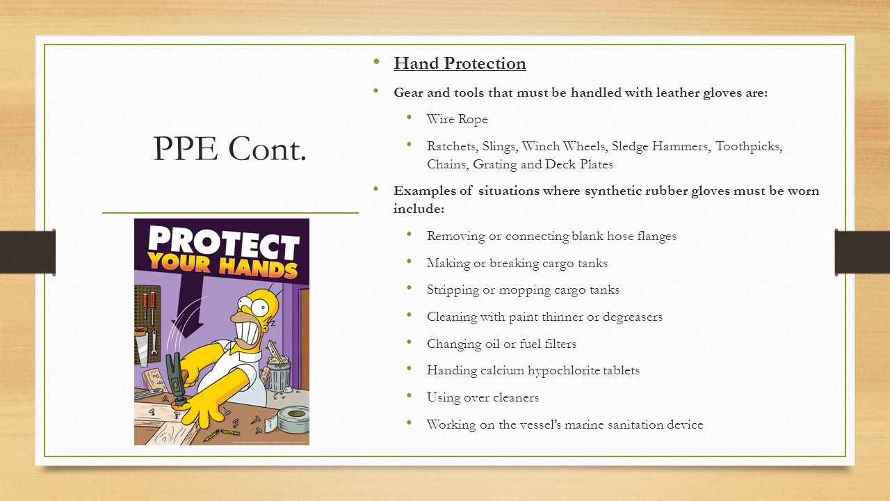 PPE Cont. Hand Protection