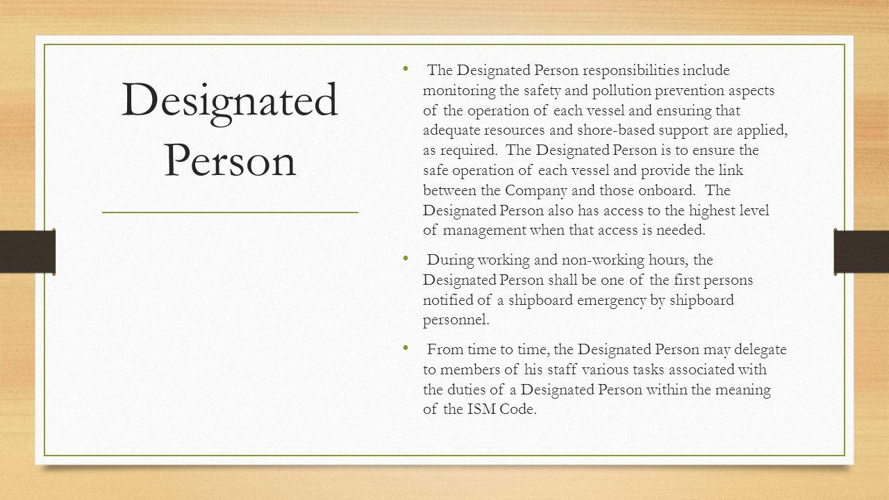 Designated Person