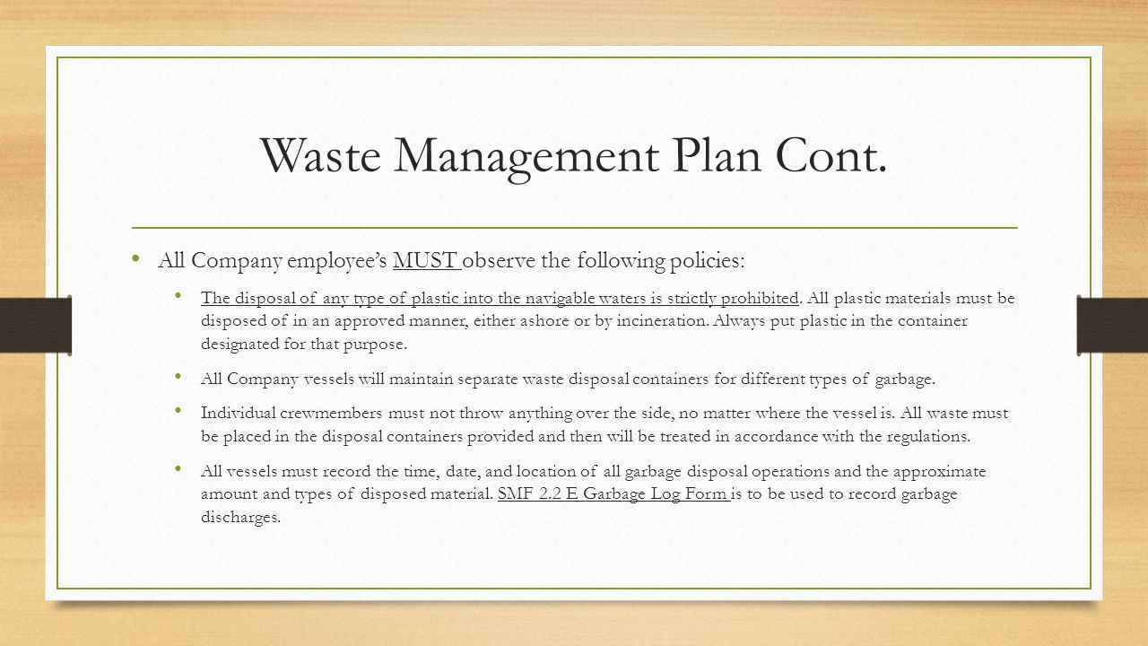 Waste management benefits planning and 28 images nims for Waste management plans template