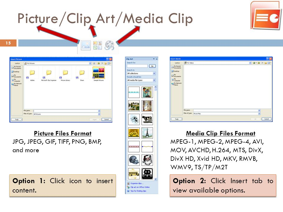 Picture/Clip Art/Media Clip