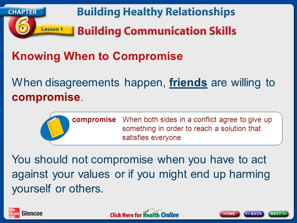 dating and not willing to compromise