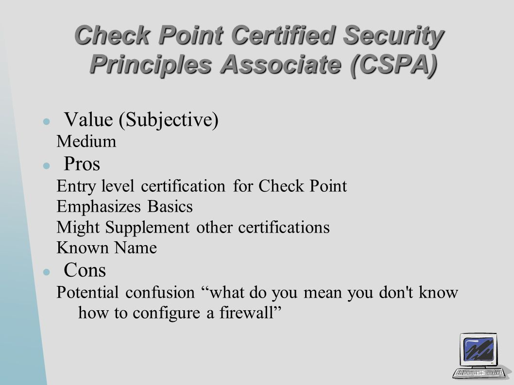 Security certifications ppt video online download check point certified security principles associate cspa 1betcityfo Images