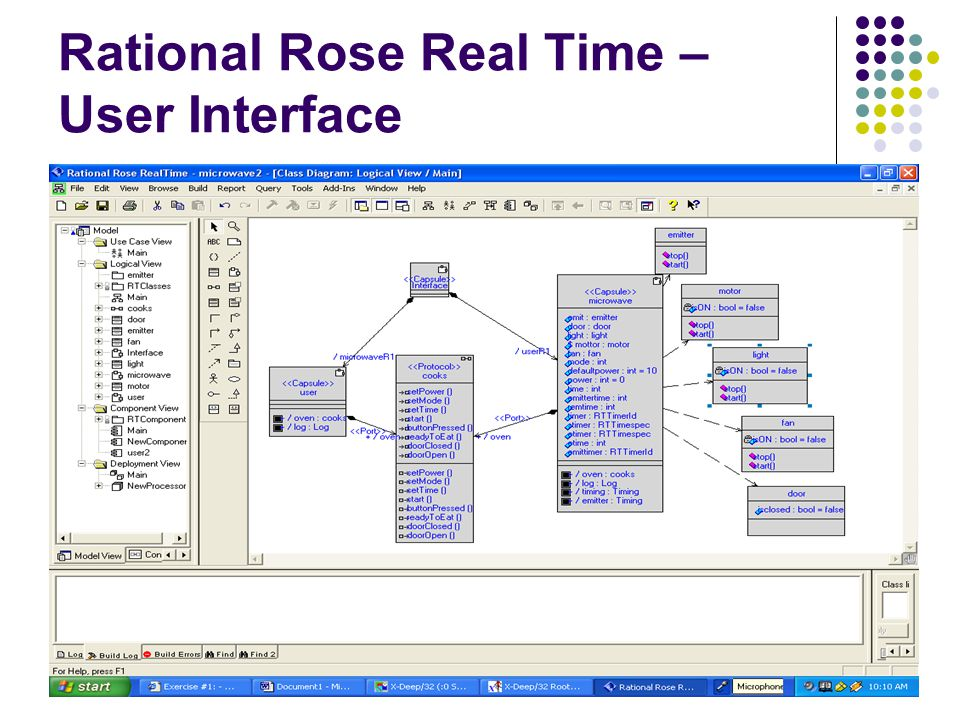 6 rational rose real time user interface - How To Draw Component Diagram In Rational Rose