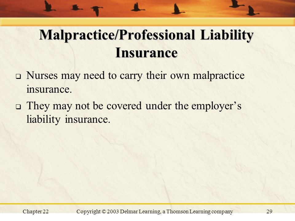 Professional Liability Insurance for Nurses