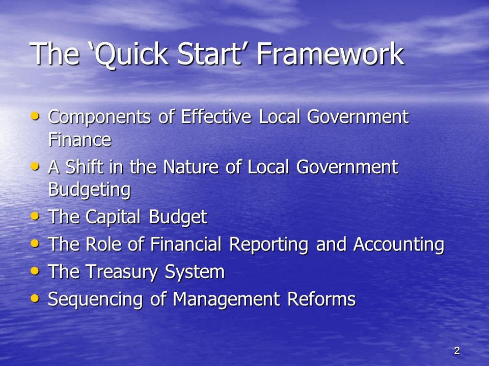 "local government accounting system An appraisal of local government finances and accounting system - ""the third level of government is the local government state governments."