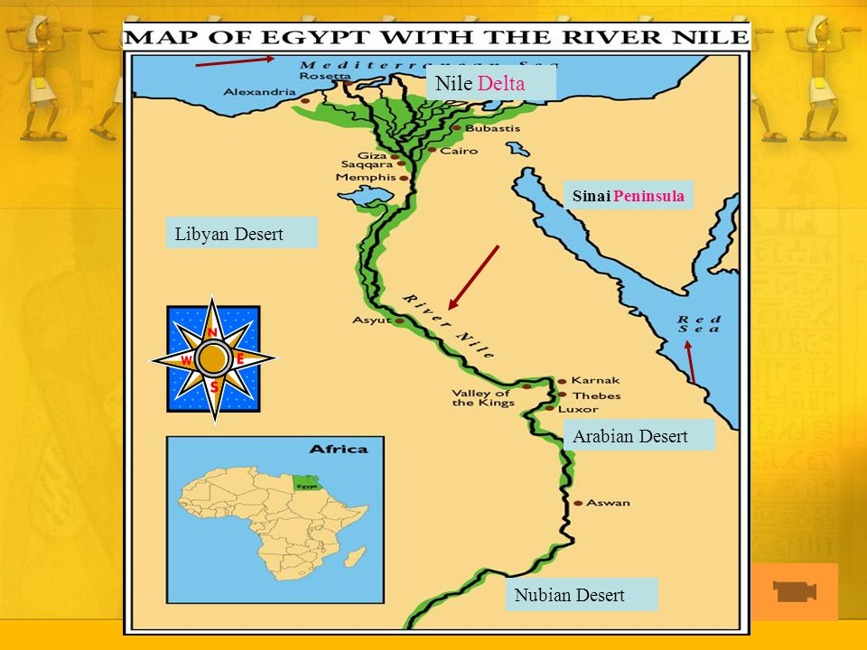 Egypt Study Of A Great River Civilization Ppt Download - Map of egypt libyan desert