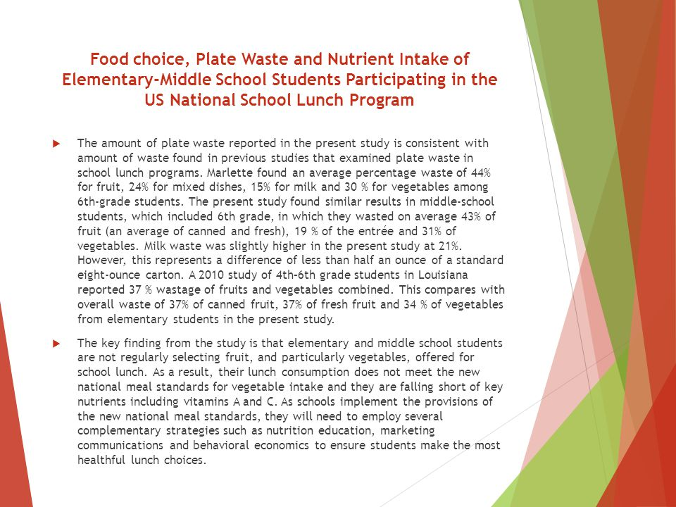 New school meal standards significantly increase fruit ...