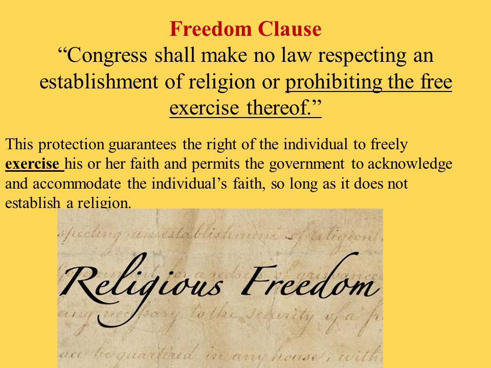 congress shall make no law respecting an establishment of religion [0b111c8] - congress shall make no law the first amendment unprotected expression and the u s supreme court free expression congress shall make no law respecting an establishment of religion or.