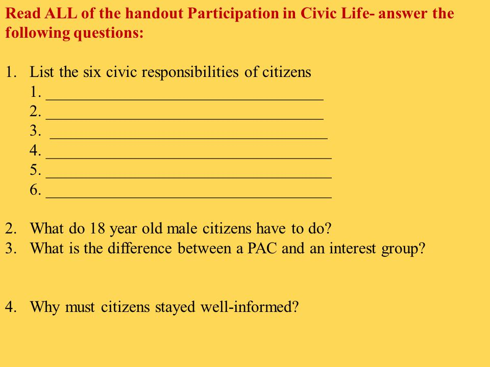 lack of participation in civic life Youth involvement in community development: implications and possibilities including a lack of youth civic engagement in the day-to-day life of.