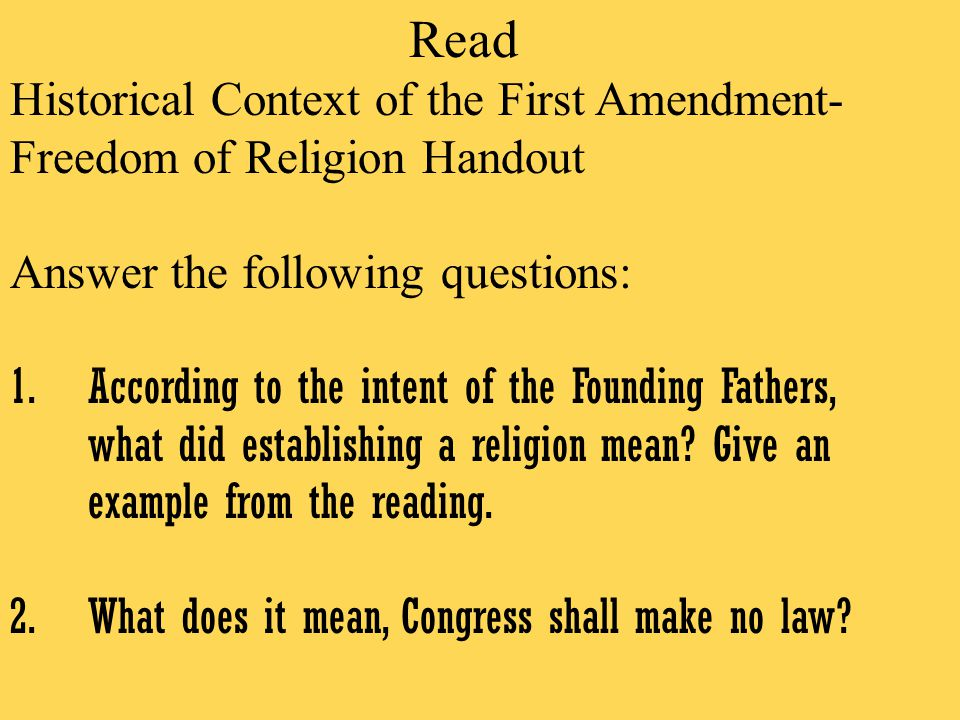 an overview of the first amendment of the constitution and the congress law in the united states on  The first ten amendments to the constitution of the united states (and two others, one of which failed of ratification and the other which later became the 27th amendment) were proposed to the legislatures of the several states by the first congress on september 25, 1789.