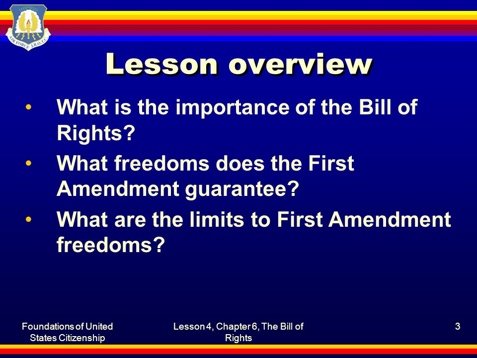 "an analysis of the freedoms granted by the first amendment of the american bill of rights The supreme court has attempted to address these other interests by recognizing a ""right of association"" that does not appear in the text of the constitution the court initially linked this right to the first amendment rights of speech and assembly."