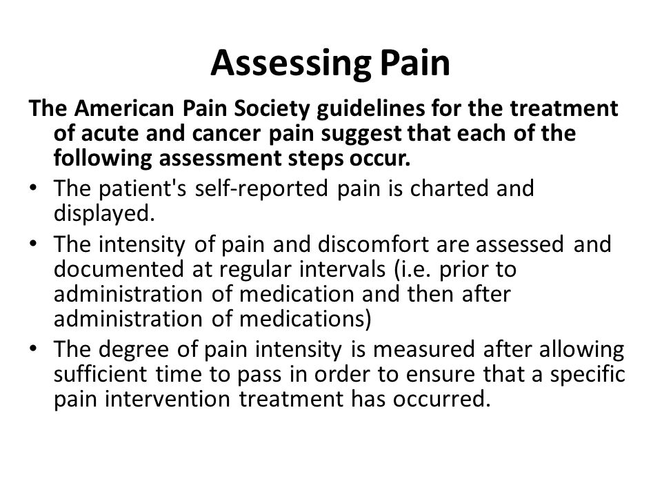 Assessing Pain