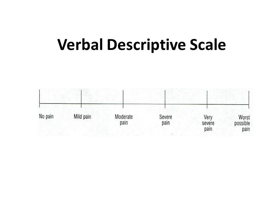 Verbal Descriptive Scale