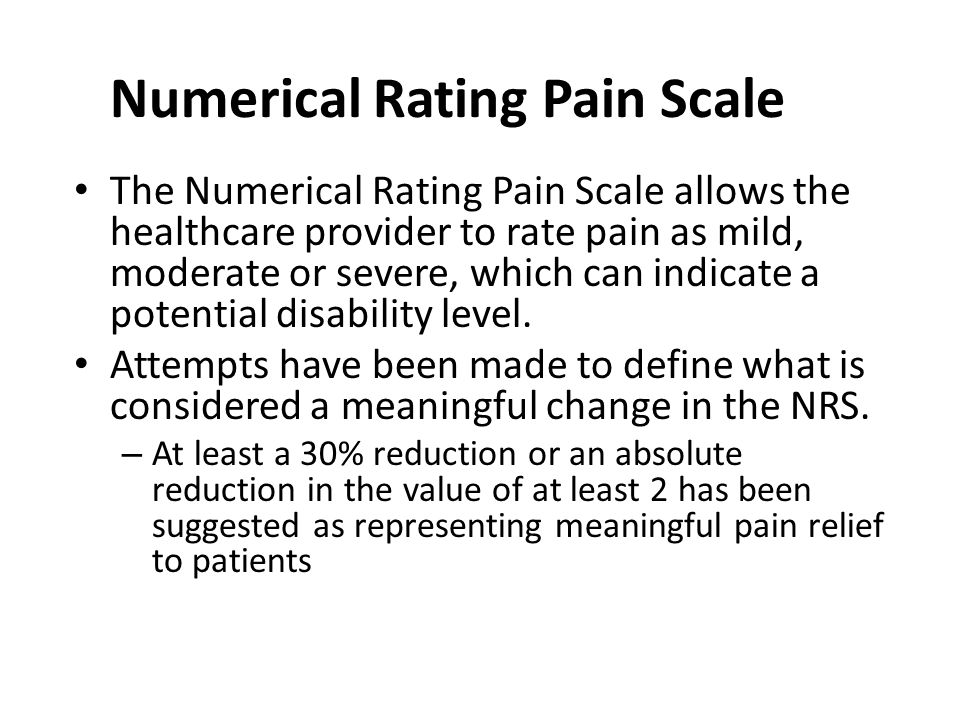 Numerical Rating Pain Scale