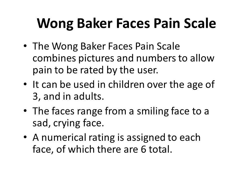 Wong Baker Faces Pain Scale