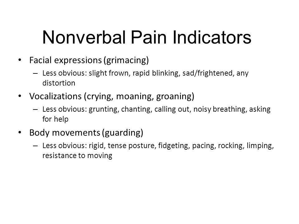 Nonverbal Pain Indicators