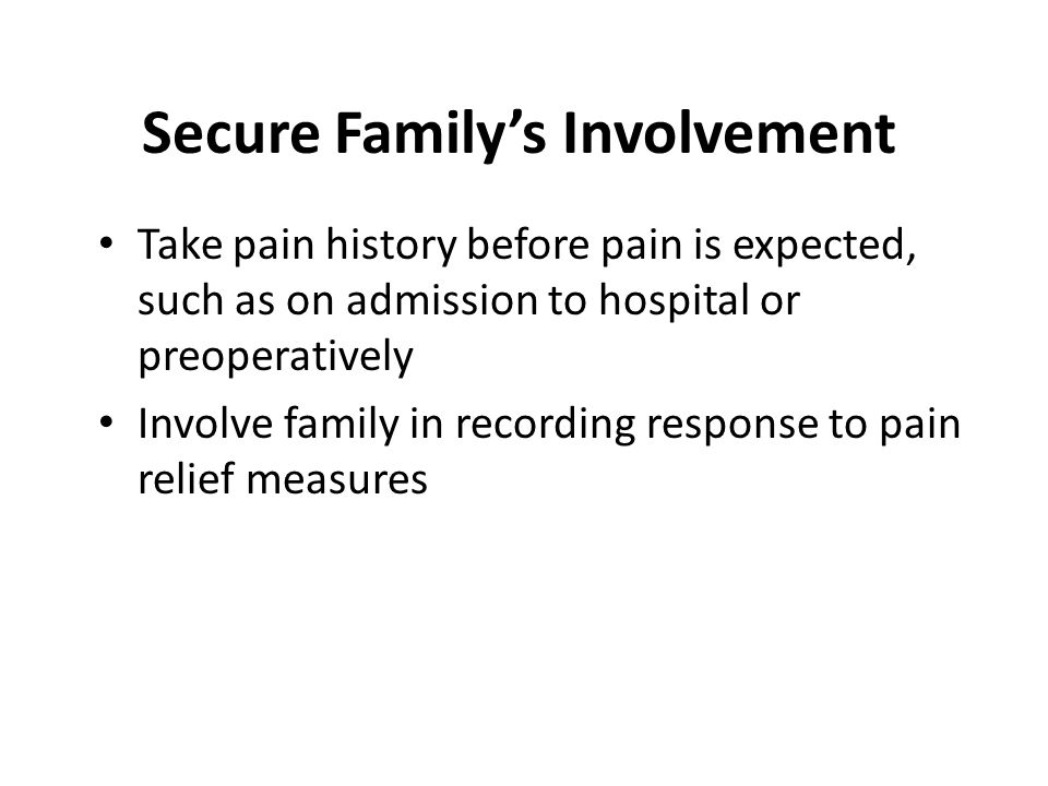 Secure Family's Involvement