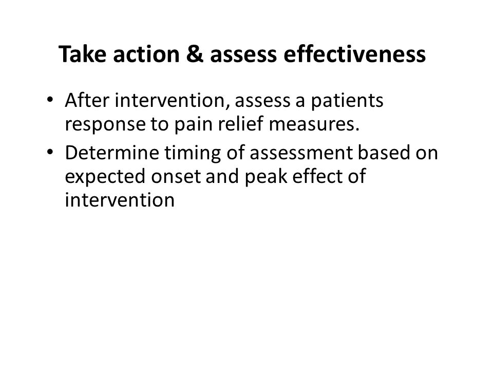 Take action & assess effectiveness