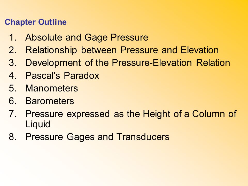 what is the relationship between pressure and pascal