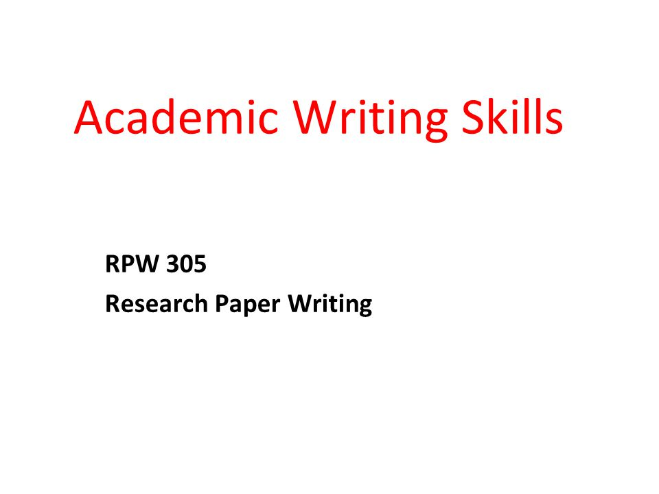 Improving the style or the structure of your academic writing