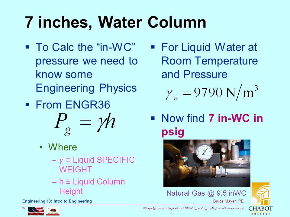 Natural Gas Water Column