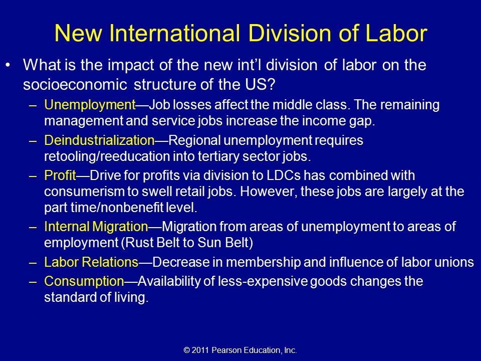 new international division of labor Sources: cash, june c, and maria patricia fernande-kelly women, men, and the international division of labor np: state u of new york, 1983google books.