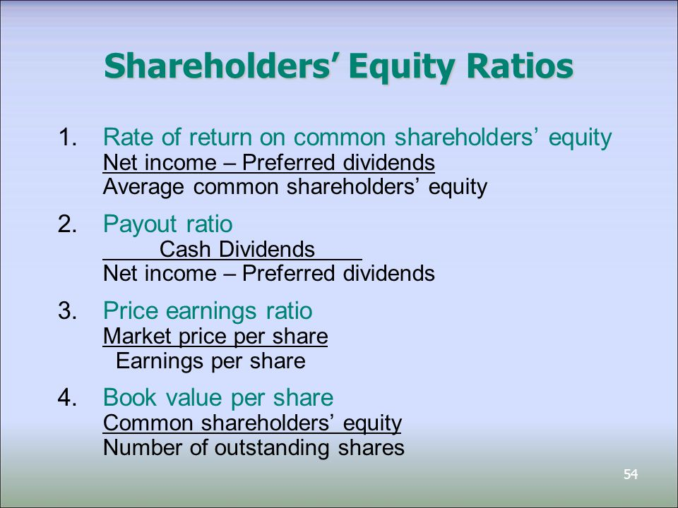 The equity ratio is a leverage ratio that measures the portion of assets funded by equity. Companies with equity ratio of more than 50% are known as conservative companies. A conservative company's equity ratio is higher than its debt ratio -- meaning, the business makes use of more of equity and less of debt in its funding.