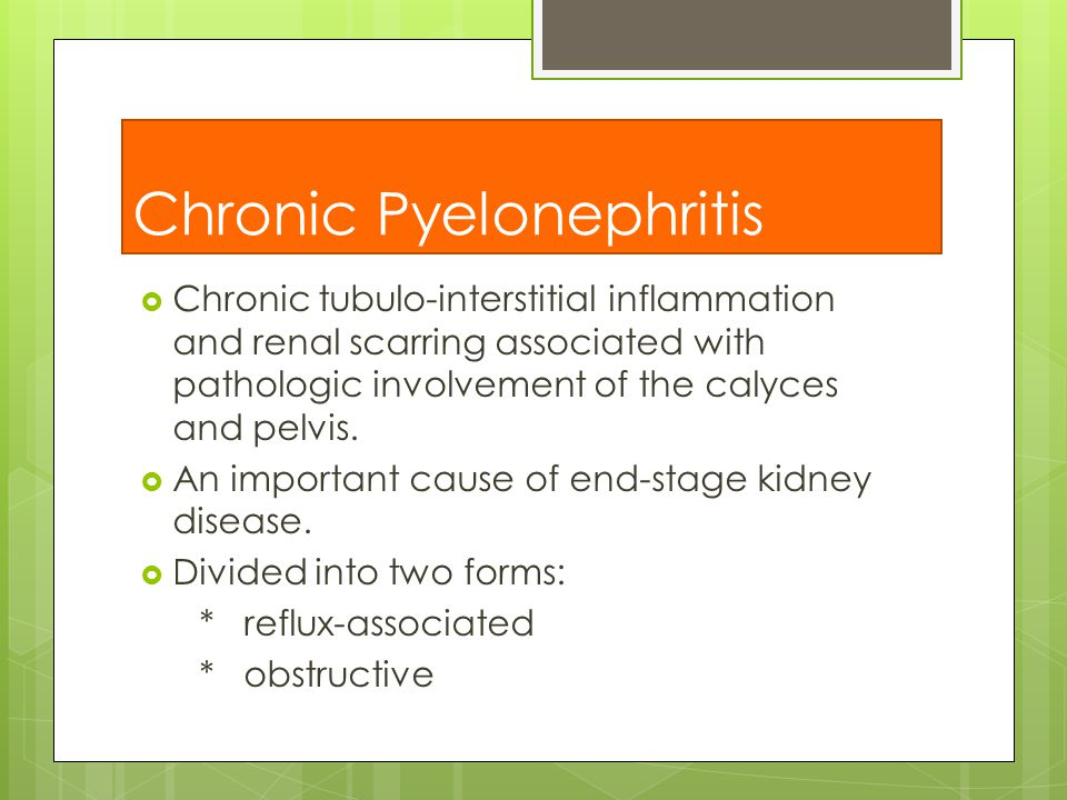 chronic pyelonephritis - photo #33
