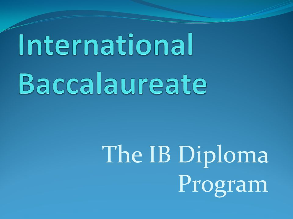 international baccalaureate coursework