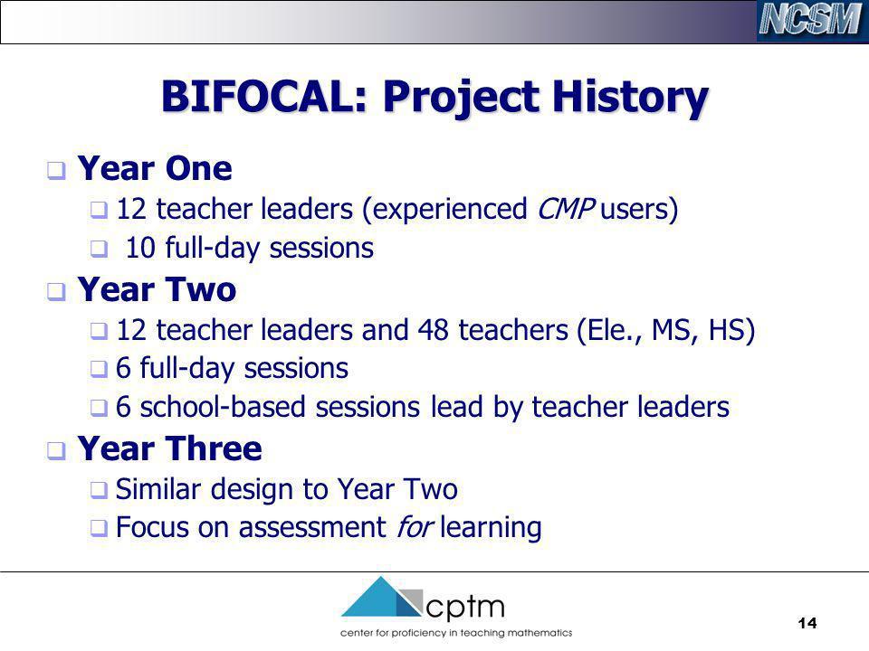 BIFOCAL: Project History