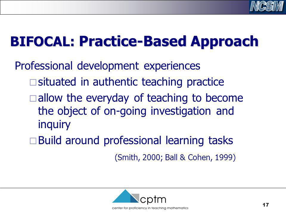 BIFOCAL: Practice-Based Approach