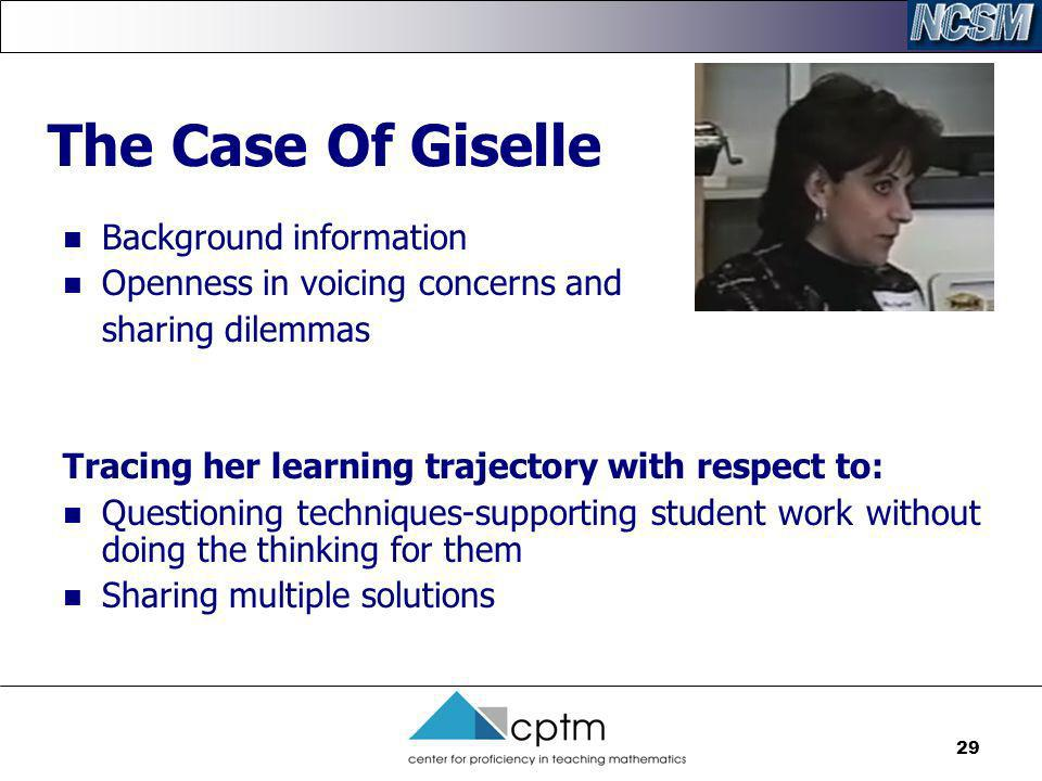 The Case Of Giselle Background information