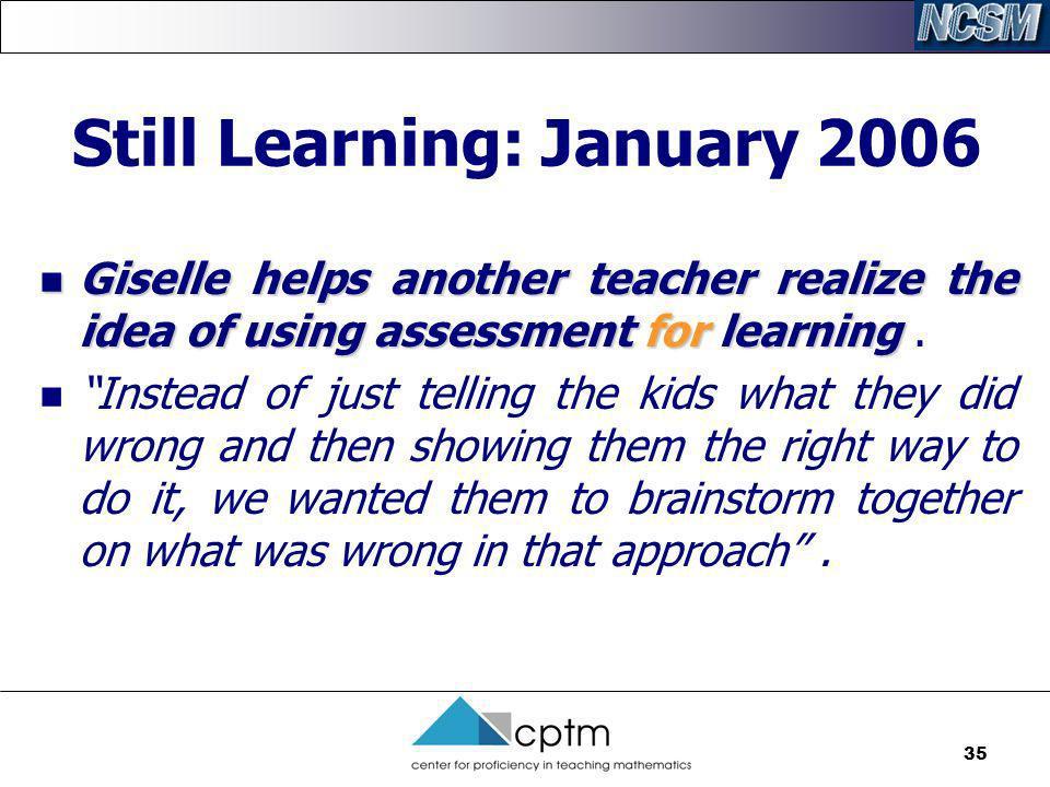 Still Learning: January 2006