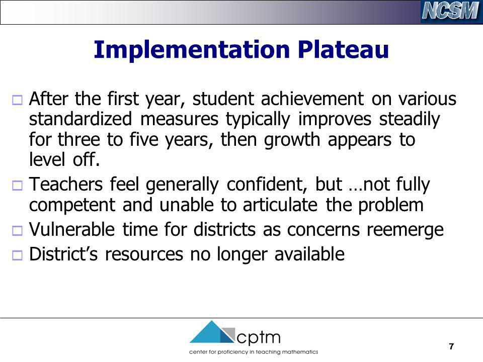Implementation Plateau