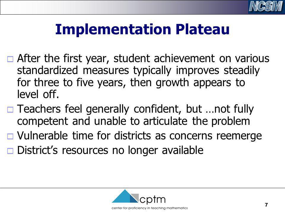 Implementation Plateau