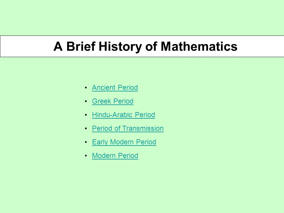 History of mathematics slide presentation;resmi.