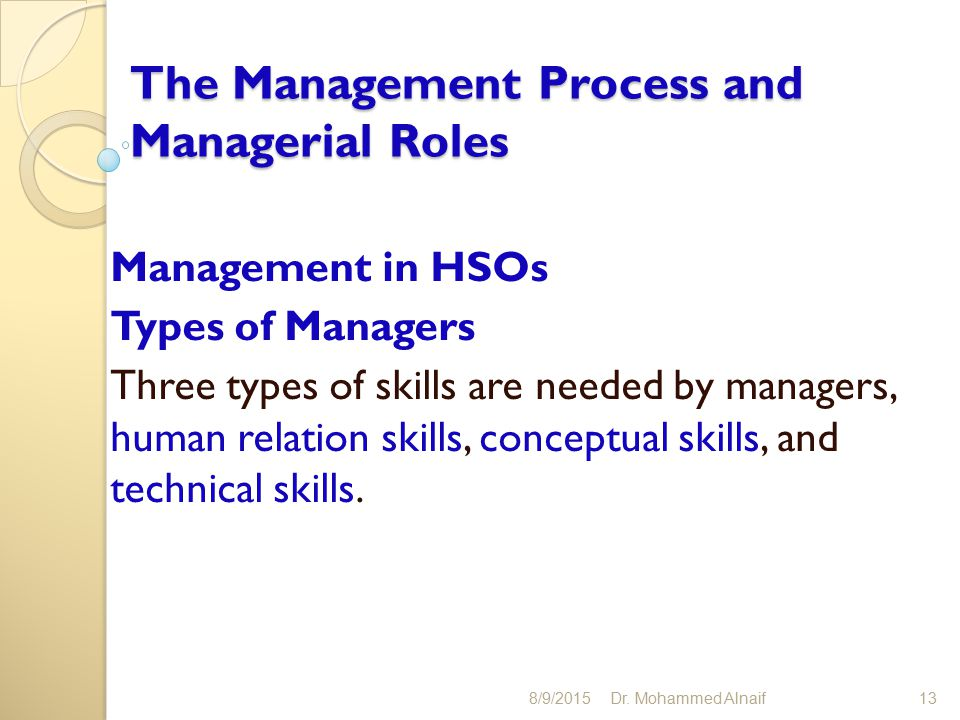relationship of conceptual human and technical skills to management