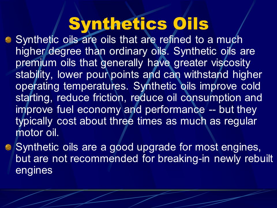 Topics To Be Discussed Types Of Oils Oils Function Or Job