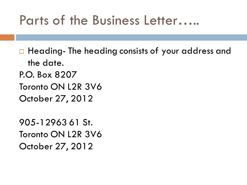 The Business Letter  Ppt Download