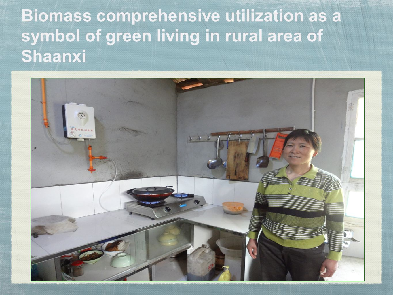 Biomass comprehensive utilization as a symbol of green living in rural area of Shaanxi