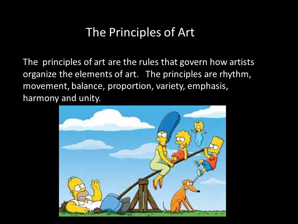 Principles Of Art Balance : The principles of art are rules