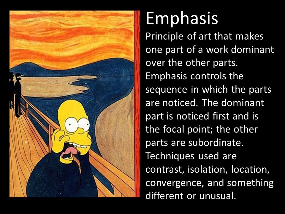 Different Principles Of Art : The principles of art are rules
