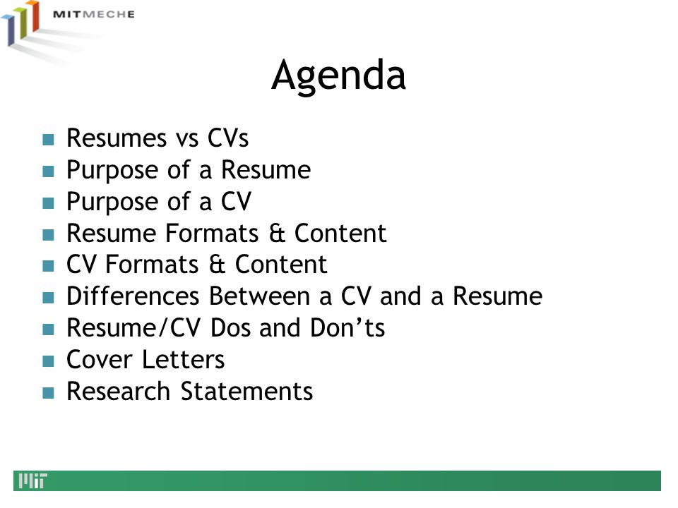 agenda resumes vs cvs purpose of a resume purpose of a cv - Resume Vs Cover Letter