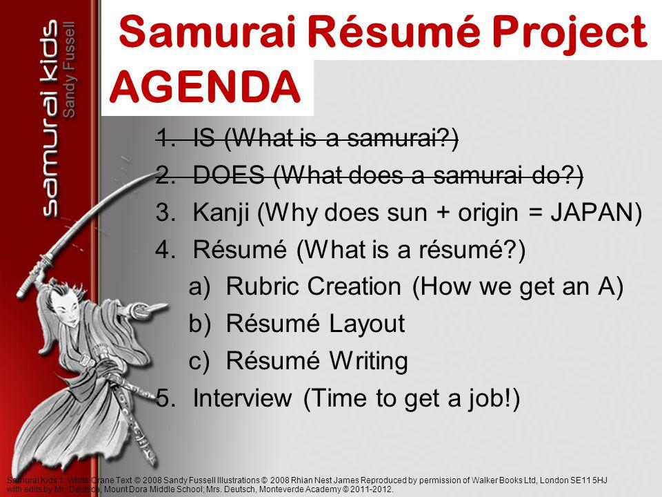 Samurai resume project