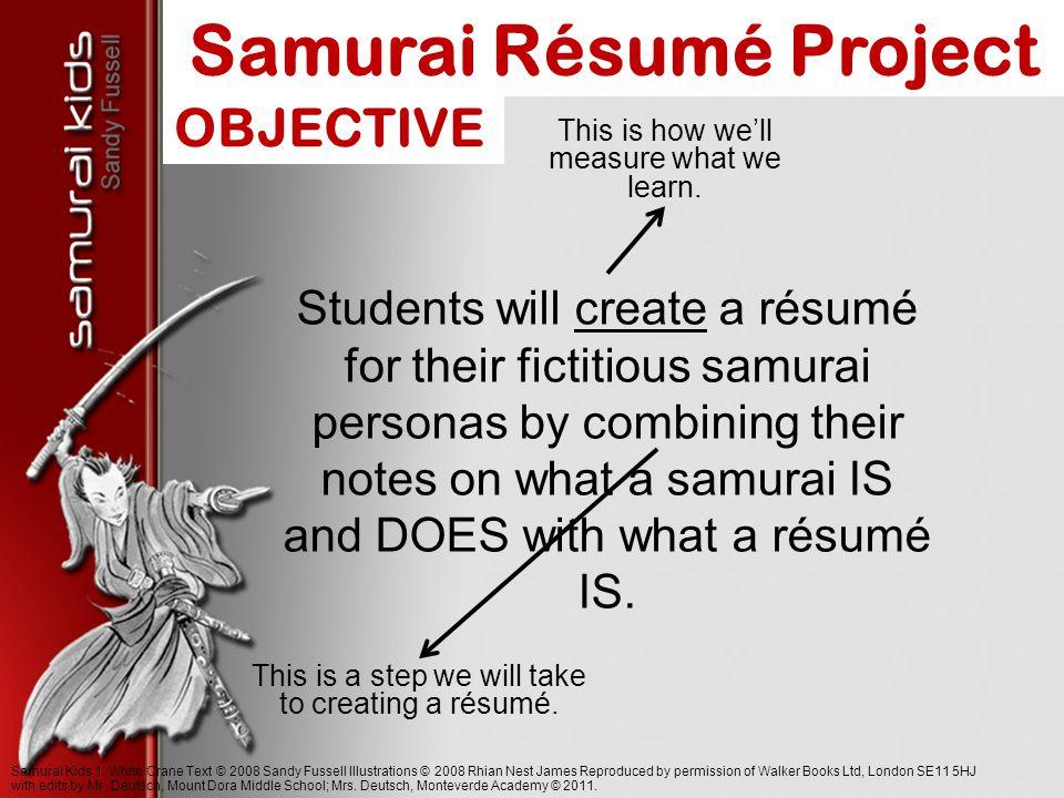 Samurai resume help