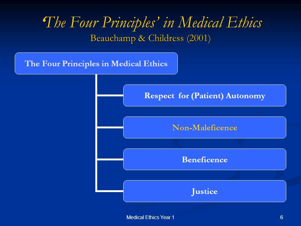 principles of biomedical ethics Four principles of biomedical ethics - , the.